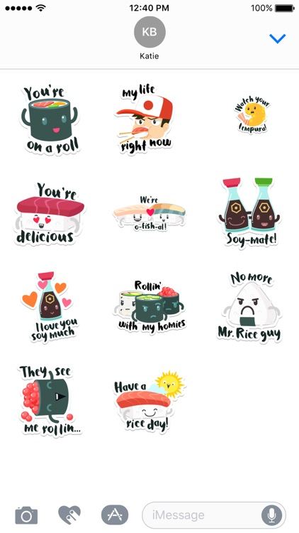 Sushi Stickers for iMessage screenshot-3