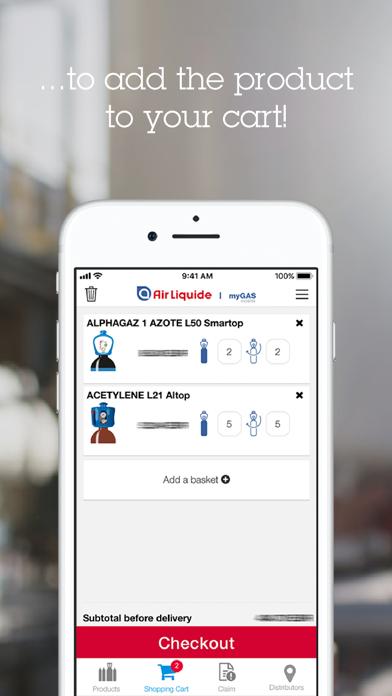 Screenshot of myGAS mobile3