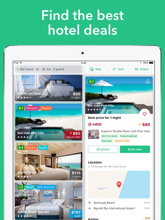 Cheap hotel deals and discounts — Hotellook screenshot