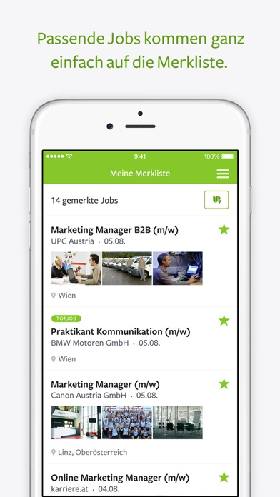 Screenshot for karriere.at search.jobs in Austria App Store