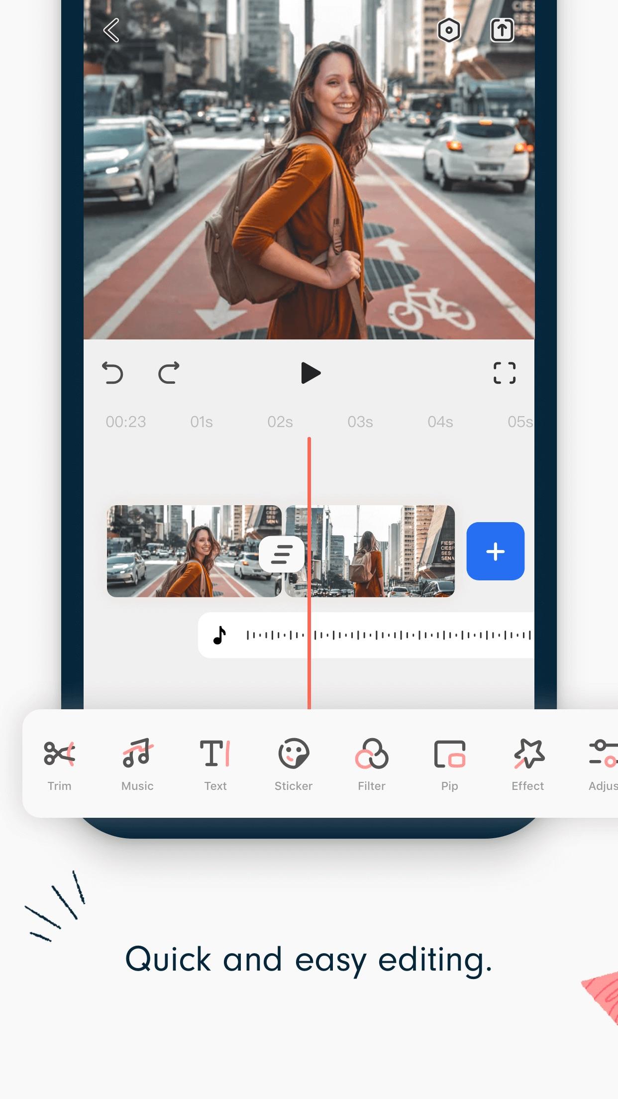 FilmoraGo-Video Editor & Maker Screenshot