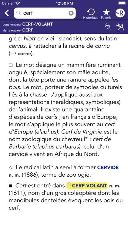 Dictionnaire Robert Historique screenshot-4