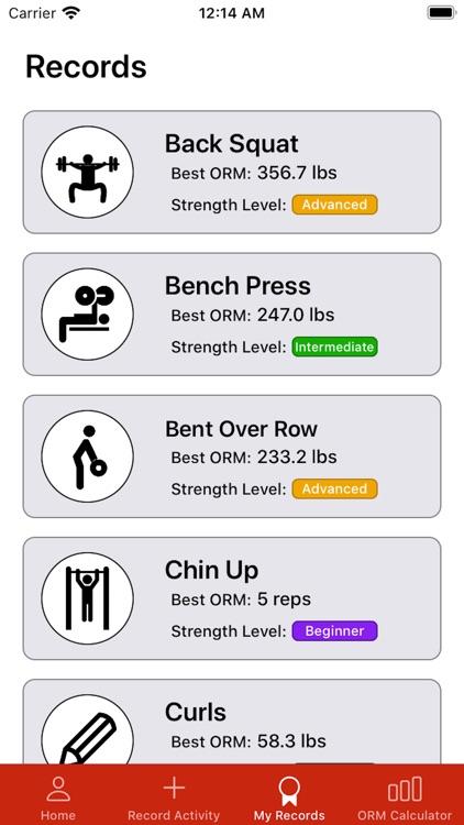 ORM: Strength Progress Tracker screenshot-3