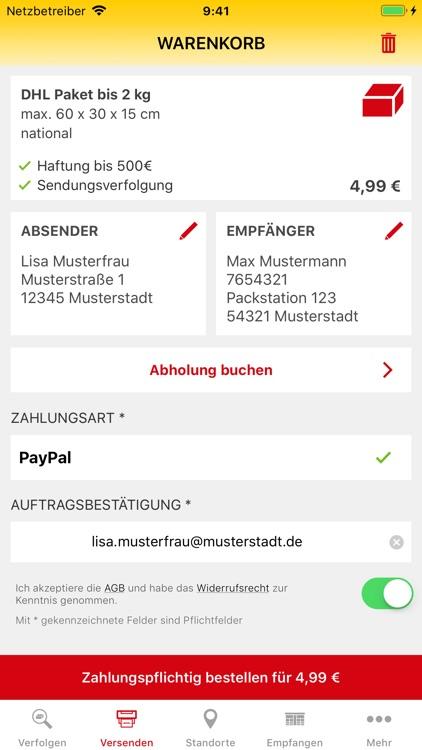 DHL Paket screenshot-3