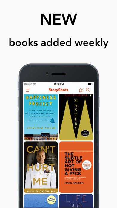 StoryShots Audiobook Summaries Screenshot