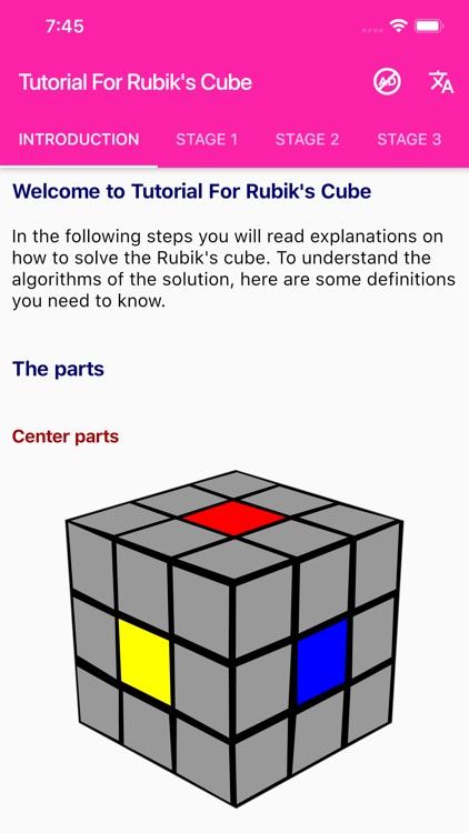 Tutorial For Rubik's Cube