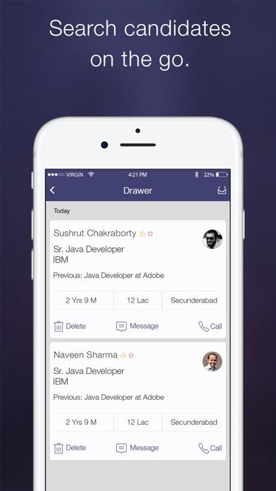Screenshot #1 pour Naukri Recruiter