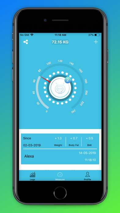 Actofit SmartScale screenshot two