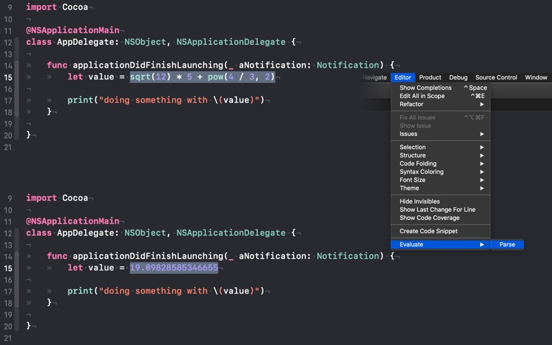 Evaluate for Xcode for Mac