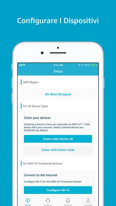 Screenshot of AWS IoT 1-Click2
