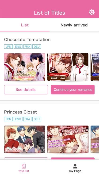 Love stories & Otome Games LOG screenshot-3