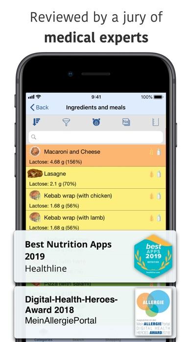 Food Intolerances Screenshot