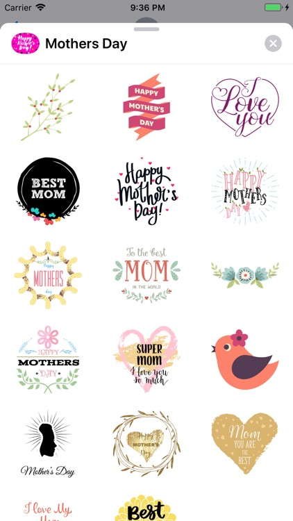 Happy Mothers Day Sticker Emo