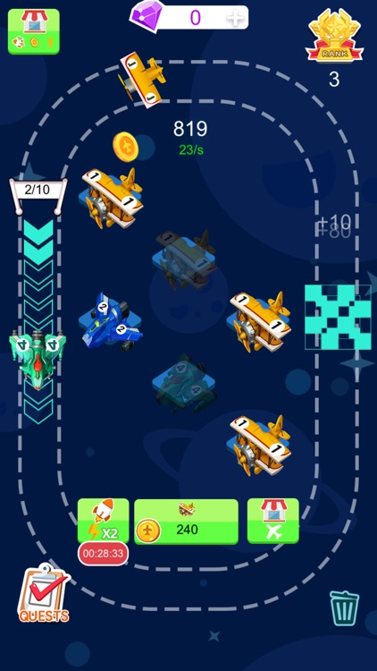 Tiny Plane - 2048 Coins Tycoon screenshot-3