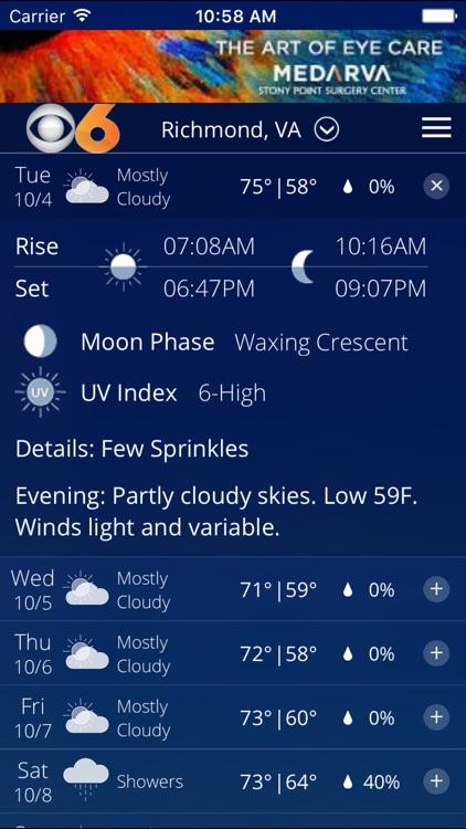 CBS 6 Weather - Richmond, Va. screenshot-4