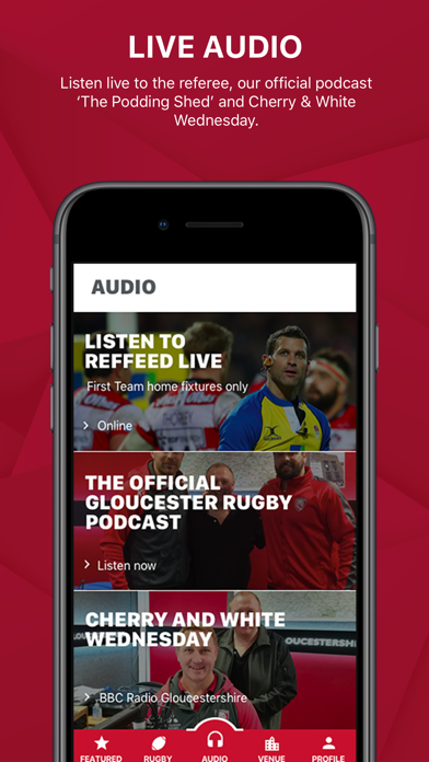 Gloucester Rugby App screenshot two