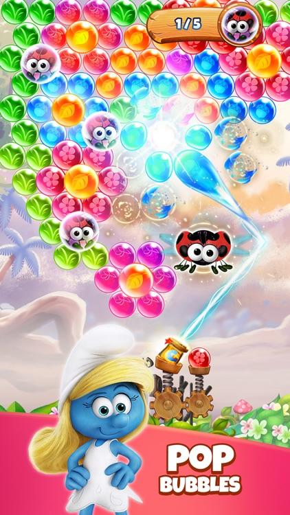 Smurfs Bubble Shooter Game screenshot-0