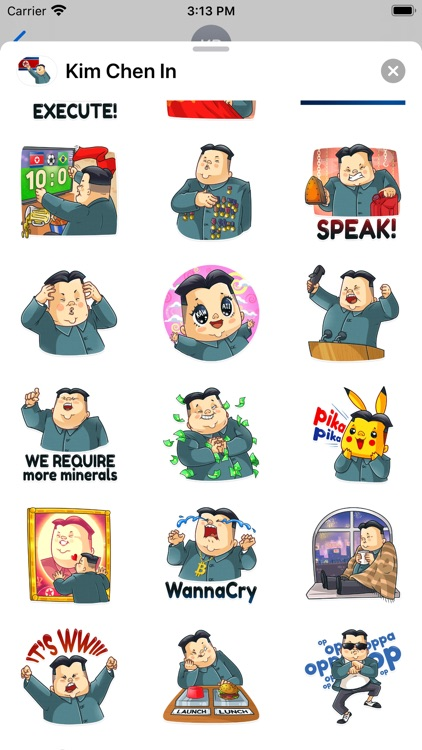 Kim Chen In Stickers