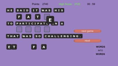 WORDS into WORDS screenshot 13