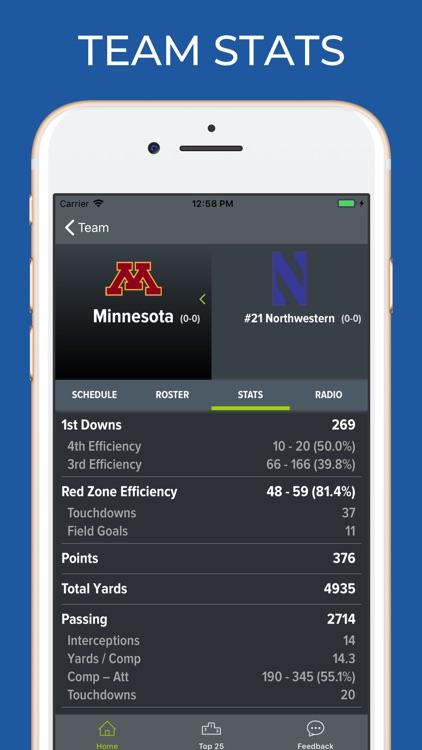 Minnesota Football Schedules screenshot-4