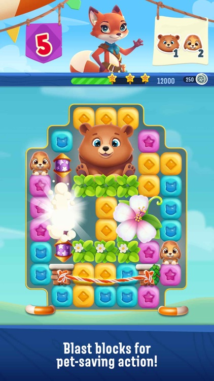 Pet Rescue Puzzle Saga screenshot-0
