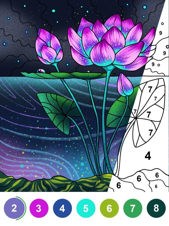 数字で塗り絵 - すうじでぬりえパズルゲームのおすすめ画像1