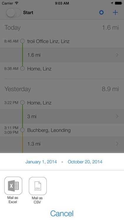 Tour: Automatic Mileage Log screenshot-4