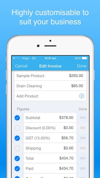 Recurring Invoices Invoice app screenshot-3