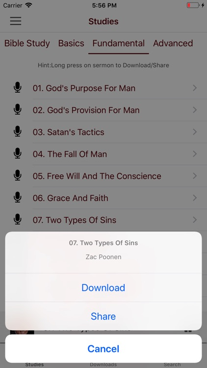 Bible Study with Zac Poonen