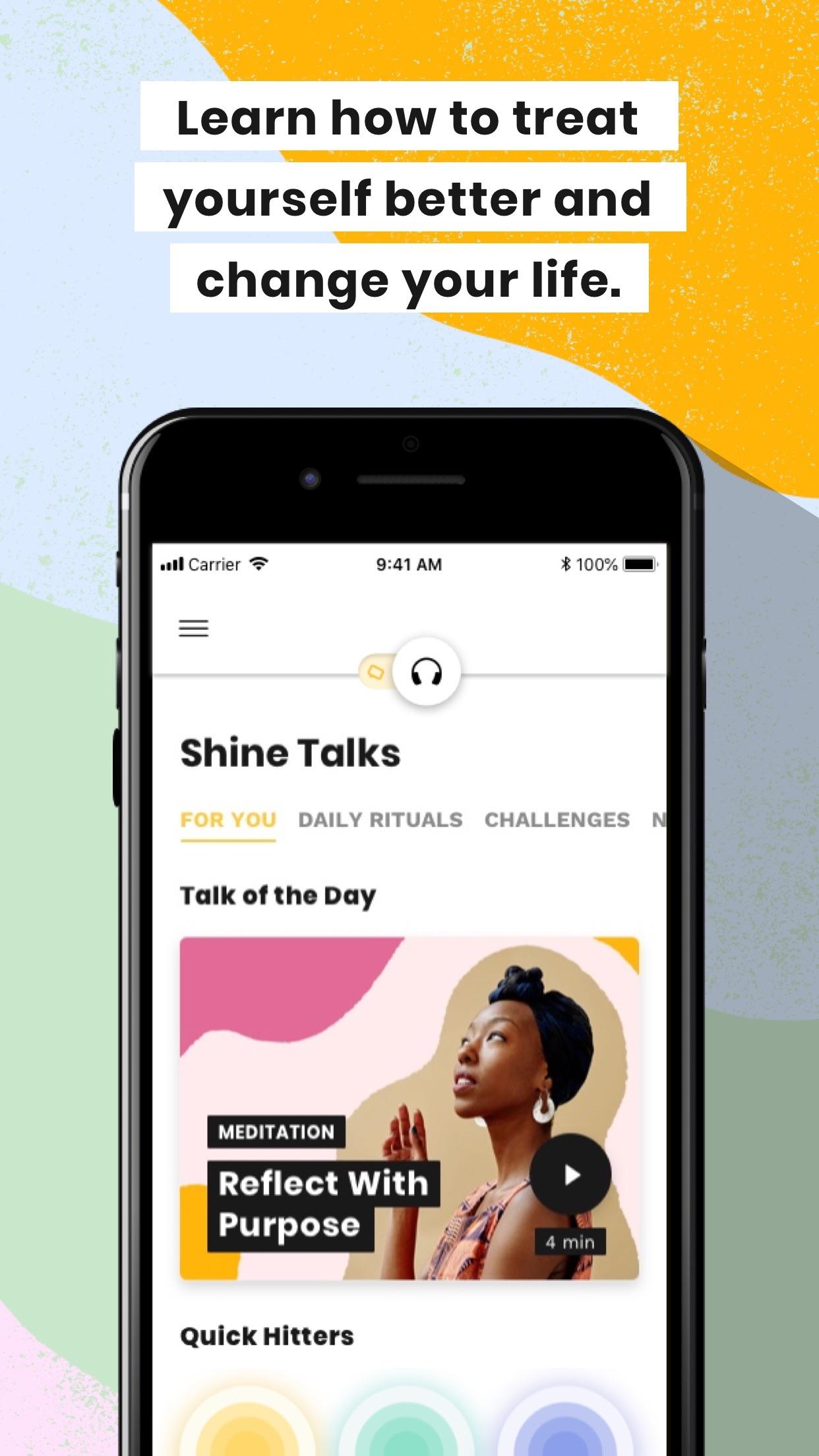 Shine - Self-Care & Meditation Screenshot