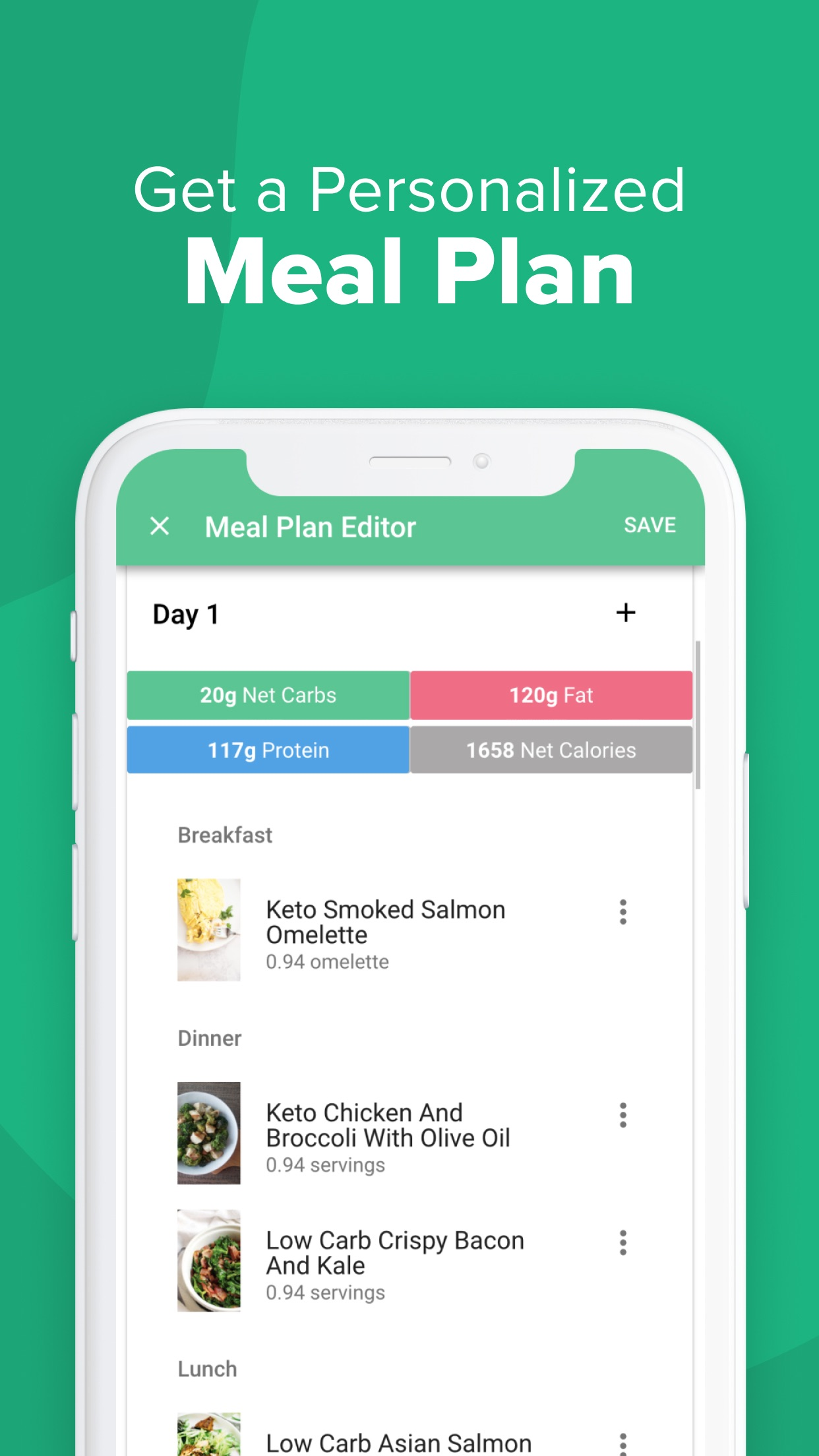 Carb Manager: Keto Diet App Screenshot