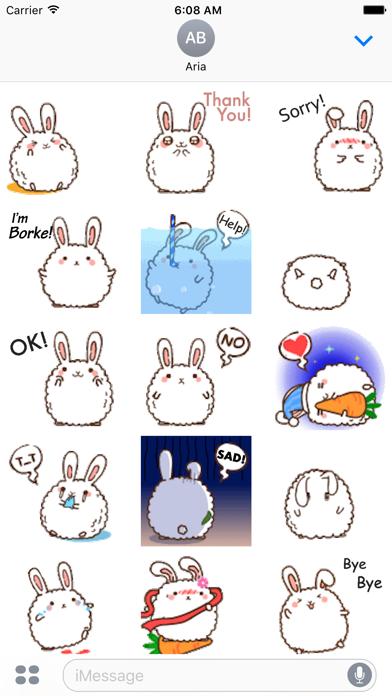 Animated Cute Chubby Bunny screenshot 2