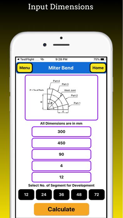 Miter Bend Pro screenshot 2