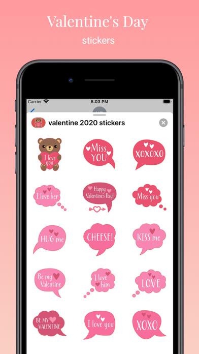 Valentines Day : love stickers screenshot 1