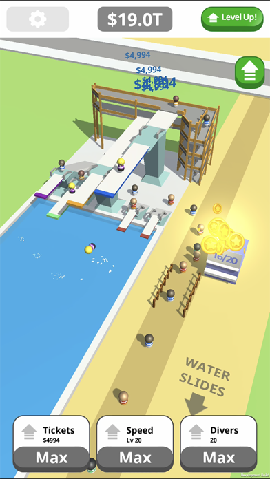 Idle Tap Splash Park Screenshot on iOS