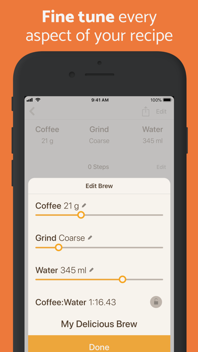 Brew Timer - Coffee Recipes Screenshot