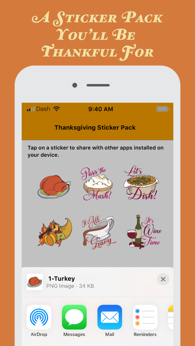 Woodcut Thanksgiving Stickers screenshot three
