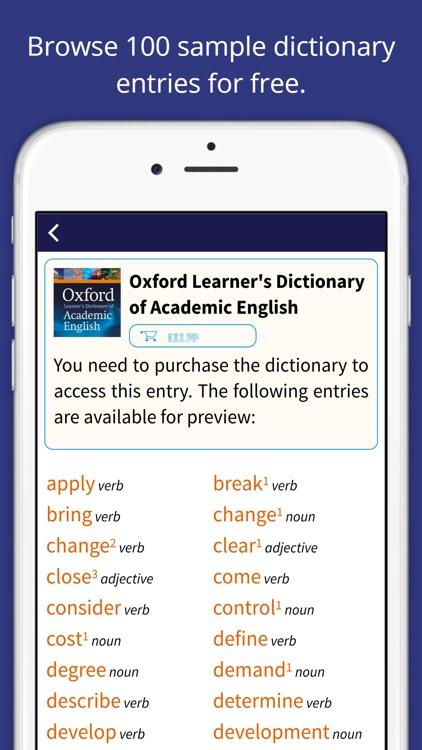 Oxford Learner's Academic Dict screenshot-0