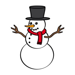 Funny Snowman Stickers