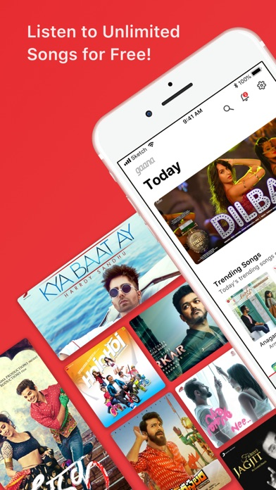 Screenshot for Gaana Music - Songs & Radio in Pakistan App Store