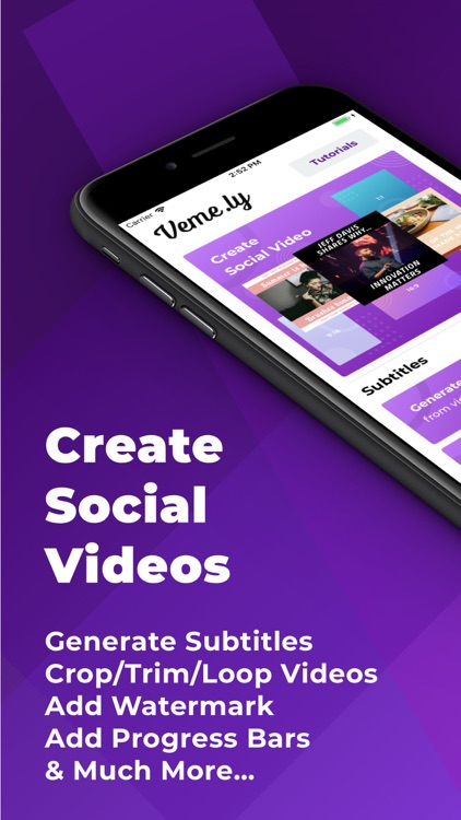 Veme.ly: Captions to Videos screenshot-0