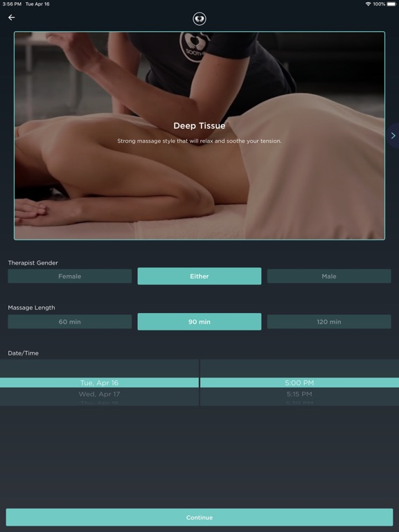 Soothe: In Home Massage Delivered To You screenshot