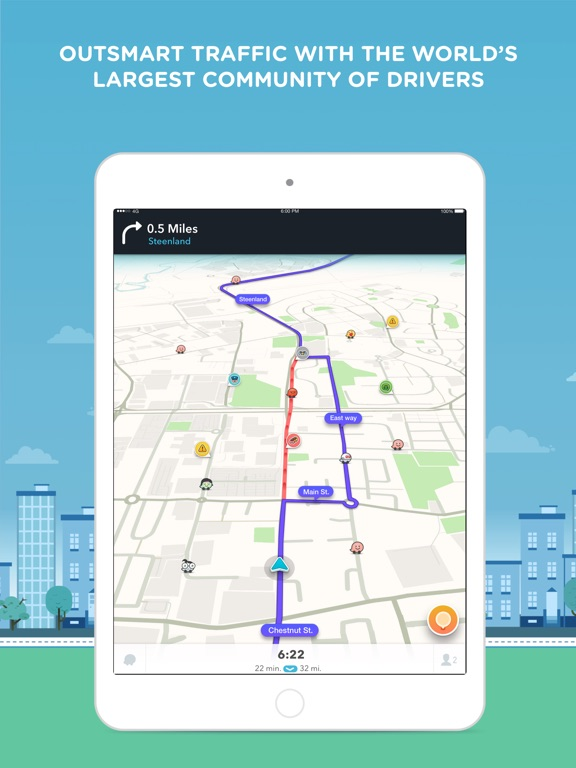 Waze Navigation & Live Traffic-ipad-0