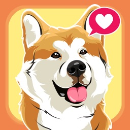 Akita Dog Cool Emojis Stickers