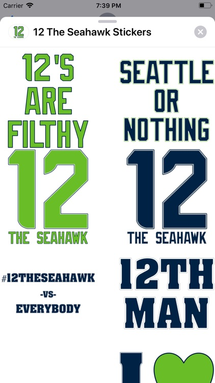 12 The Seahawk Stickers screenshot-0