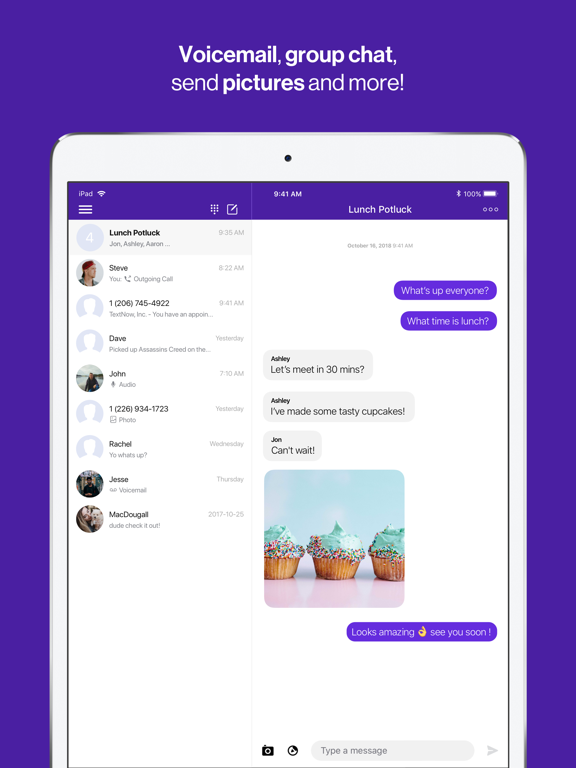 TextNow + Voice - Free Texting and Calling screenshot
