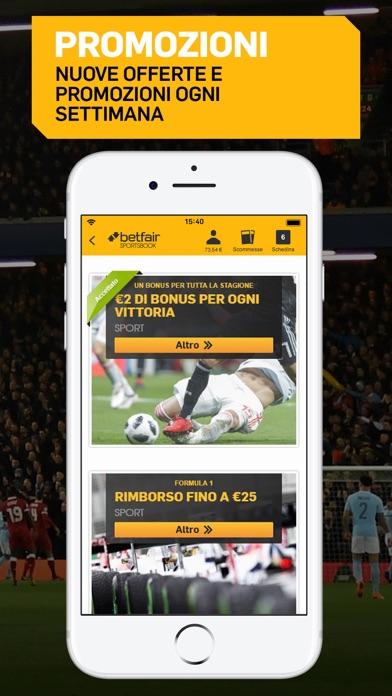 Screenshot of Betfair Sport - Scommesse3