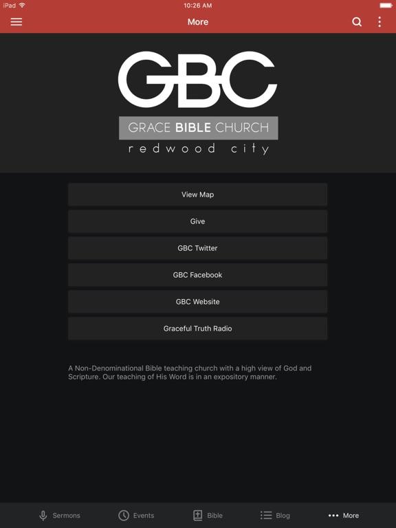 Grace Bible Church - CA screenshot 6