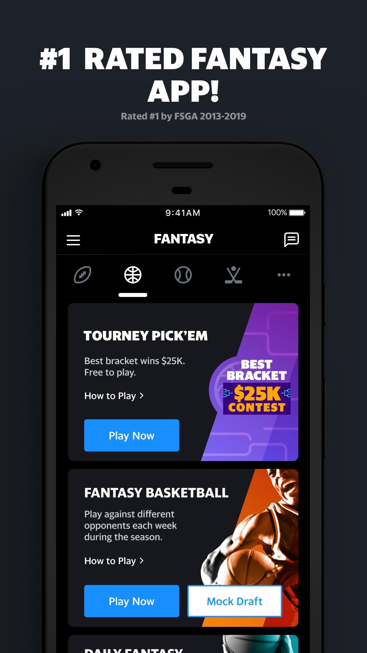 Yahoo Fantasy Football & more Screenshot