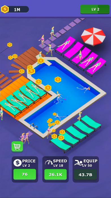 Idle Swimming Pool screenshot 1